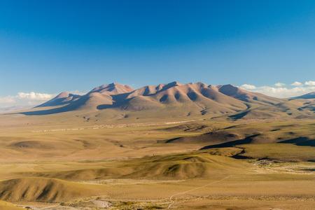bolivian: Landscape of bolivian Altiplano Stock Photo