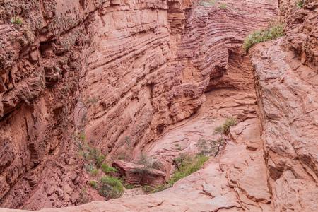 diablo: Rock formation called Garganta del Diablo (Devils Throat) in Quebrada de Cafayate valley, Argentina