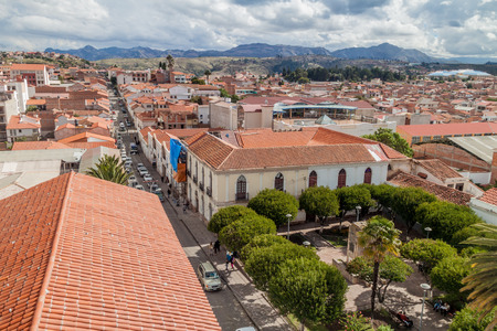 Aerial view of Sucre, Bolivia Stock Photo