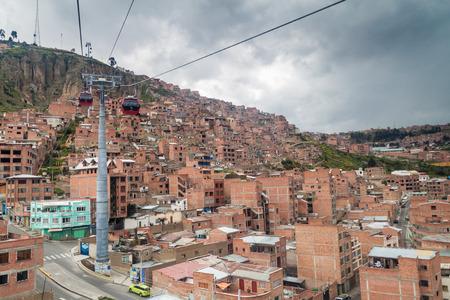 la paz: Teleferico (cable car) in La Paz, Bolivia Editorial