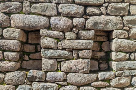 niches: Detail of a stone wall with niches at Machu Picchu ruins, Peru Stock Photo