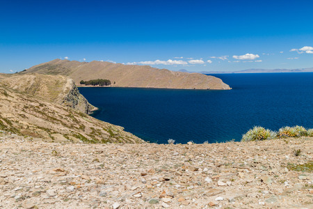 isla: Isla del Sol (Island of the Sun) in Titicaca lake, Bolivia