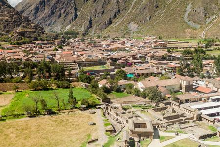 sacred valley: Aerial view of Ollantaytambo, Sacred Valley of Incas, Peru