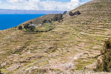 Isla del Sol (Island of the Sun) in Titicaca lake, Bolivia