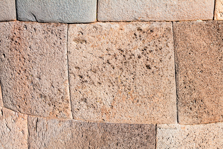 funerary: Detail of a funerary tower in Sillustani, Peru Stock Photo