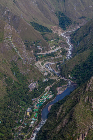 hydroelectric: Hydroelectric station in Urubamba river valley, Peru Stock Photo