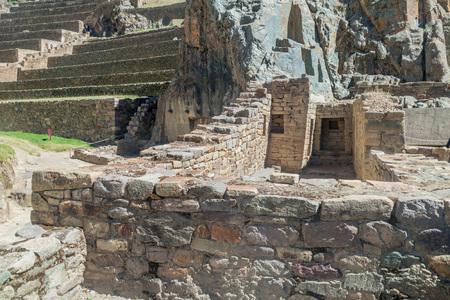 inca ruins: Inca ruins in Ollantaytambo, Sacred Valley of Incas, Peru