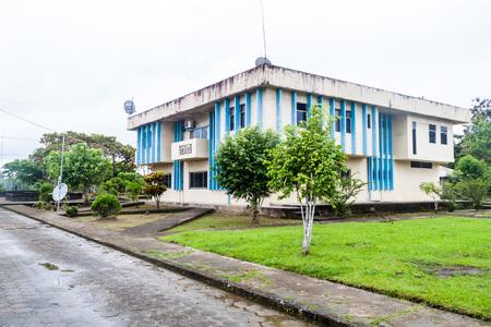 nuevo: Town hall in Nuevo Rocafuerte village, Ecuador