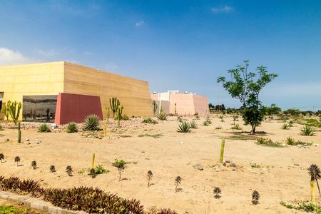Museum at archeological site Huaca del Sol y de la Luna (Temple of the Sun and the Moon) in Trujillo, Peru. Site was built in Moche period.