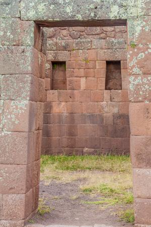 pisaq: Ancient Incas ruins in Pisac village, Sacred Valley of Incas, Peru