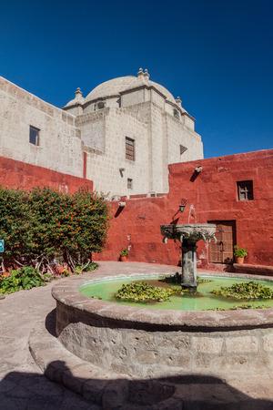 catholic nuns: Fountain in Santa Catalina monastery in Arequipa, Peru