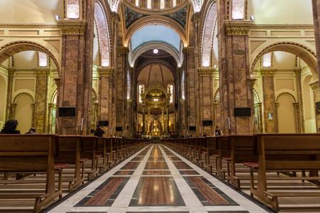 cuenca: CUENCA, ECUADOR - JUNE 17, 2015: Interior of New Cathedral (Catedral de la Inmaculada Concepcion), Cuenca, Ecuador