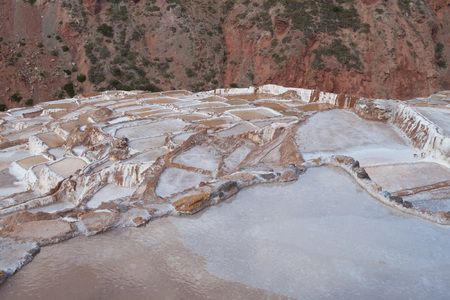 sacred valley of the incas: Salt extraction pans (Salinas) in Sacred Valley of Incas, Peru Stock Photo