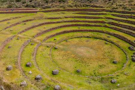 terracing: Agricultural terracing of Moray, Sacred Valley, Peru