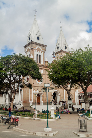 LOJA, ECUADOR - JUNE 15, 2015: San Francisco church in Loja, Ecuador