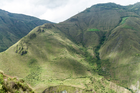 archeological site: Cloud forest mountains near Kuelap archeological site, northern Peru. Stock Photo