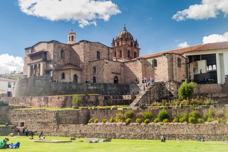 CUZCO, PERU - MAY 23, 2015: Qorikancha ruins and convent Santo Domingo in Cuzco, Peru. Editorial