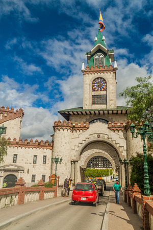 loja: LOJA, ECUADOR - JUNE 15, 2015: Puerta de la Ciudad (Door to the City) gate in Loja, Ecuador Editorial
