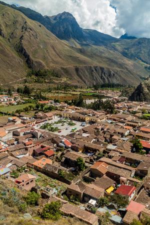 Aerial view of Ollantaytambo, Sacred Valley, Peru