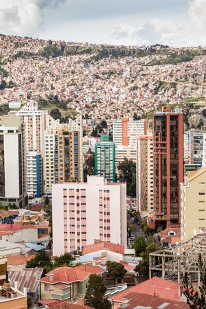 la paz: Skyscrapers in the center of La Paz, Bolivia