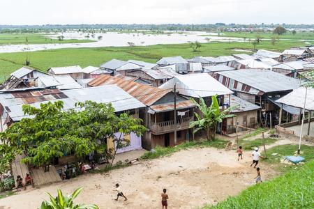 shantytown: IQUITOS, PERU - JULY 17, 2015: Shantytown in Iquitos, Peru.