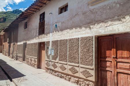 pisaq: Street in Pisac village, Sacred Valley of Incas, Peru.