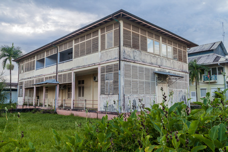 View of an old hospital in St Laurent du Maroni, French Guiana.