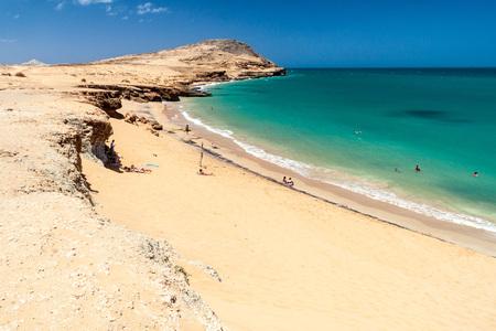 inhospitable: CABO DE LA VELA, COLOMBIA - AUGUST 24, 2015: Coast of La Guajira peninsula in Colombia. Beach Playa del Pilon. Editorial