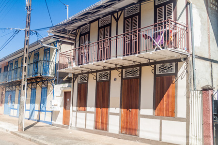 View of houses in the center of Cayenne, capital of French Guiana. 新闻类图片