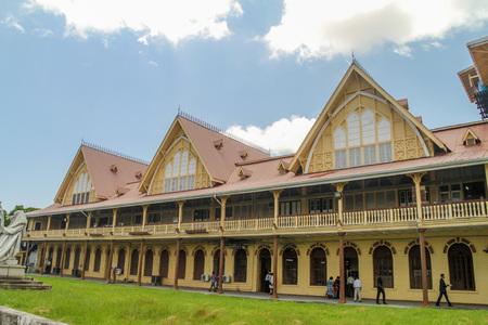 georgetown: GEORGETOWN, GUYANA - AUGUST 10, 2015: Building of the High Court in Georgetown, capital of Guyana.