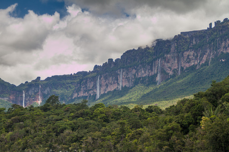 unexplored: Tepui (table mountain) Auyan in National Park Canaima, Venezuela.
