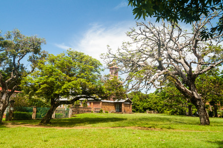 salut: Former penal colony at Ile Royale, one of the islands of Iles du Salut (Islands of Salvation) in French Guiana Stock Photo
