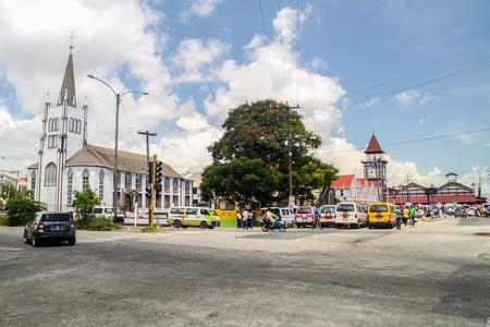 GEORGETOWN, GUYANA - AUGUST 10, 2015: Starbroek market in Georgetown, capital of Guyana. 新闻类图片