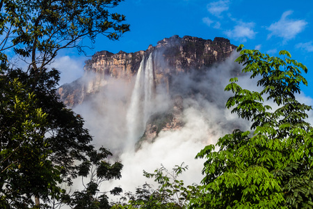 Angel Falls (Salto Angel), worlds highest waterfall (978 m), Venezuela