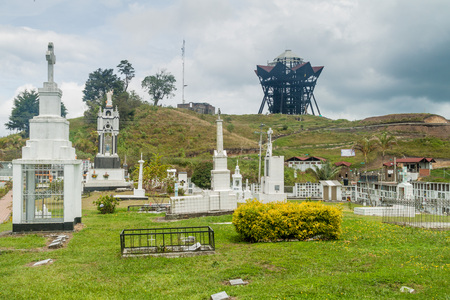 Cemetery and observation tower in Filandia village, Colombia Editorial