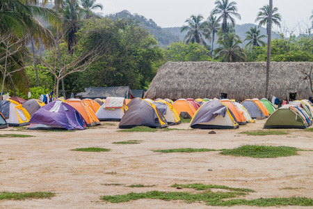camping site: Camping site in Tayrona National Park, Colombia