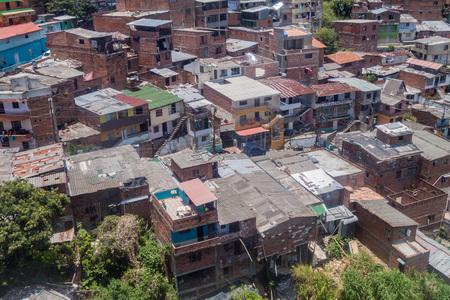 medellin: Aerial view of a poor neighborhood in Medellin, Colombia
