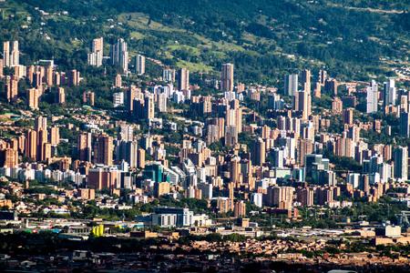 medellin: Aerial view of Medellin, Colombia Editorial