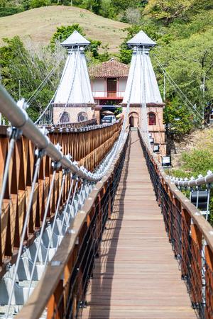 Puente de Occidente (Western Bridge) in Santa Fe de Antioquia, Colombia