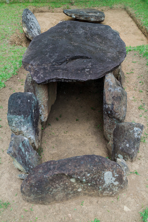 san agustin: Ancient tomb in archeological park in San Agustin, Colombia