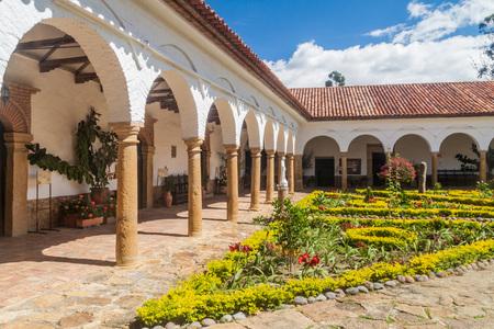 homo: Courtyard of a convent Santo Ecce Homo near Villa de Leyva, Colombia