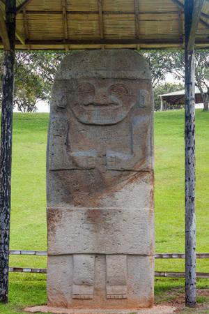 san agustin: Statue located at Alto de los Idolos archeological site near San Agustin, Colombia Stock Photo
