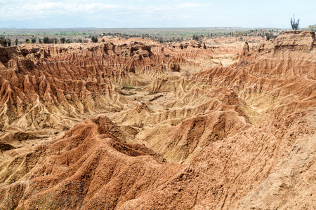 amazing stunning: Rock formations of Tatacoa desert, Colombia Stock Photo