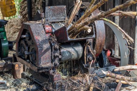 panela: Small sugar cane mill producing panela (unrefined whole cane sugar), in Obando near San Agustin, Colombia