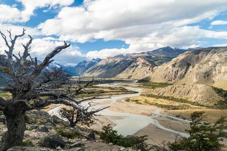 Rio de las Vueltas river valley in National Park Los Glaciares, Patagonia, Argentina