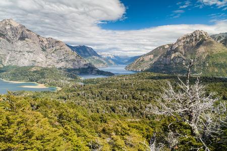 lake nahuel huapi: Perito Moreno Oeste and Nahuel Huapi lake, Argentina Stock Photo