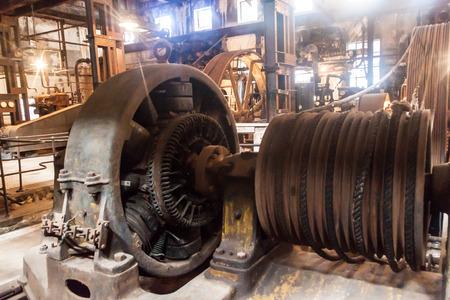 Fray Bentos, URUGUAY - 18 de febrero, 2015: Interior de una antigua fábrica de carne, ahora Museo de la Revolución Industrial.