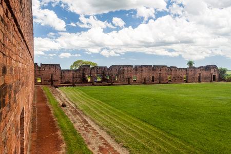 jesuit: Jesuit mission ruins in Jesus de Tavarangue, Paraguay