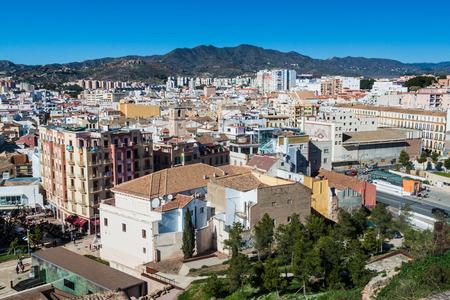 Aerial view of Malaga, Spain