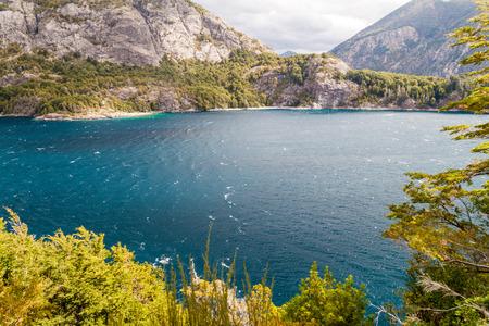 lake nahuel huapi: Bahia Lopez bay in Nahuel Huapi lake near Bariloche, Argentina